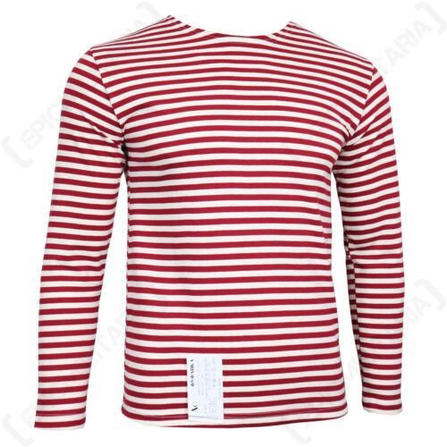 Genuine Russian OMON Telnyashka 100/% Cotton Striped Long Sleeved T-Shirt New