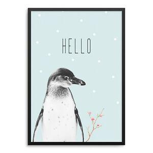 Das Bild Wird Geladen Pinguin Kunstdruck ArtPrint Poster Druck Print Mint Kinderzimmer