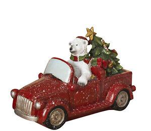 Polar-Bear-Driving-Pickup-Truck-Christmas-Figure-Winter-Scene-Decoration