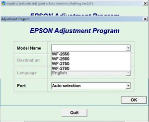 Details about RESET EPSON ILIMITADO + GENERATOR KEYGEN WF2650 WF2660 WF2750  WF2760 W7, W8, W10