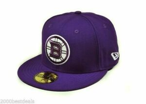 New-Era-59Fifty-Cap-Mens-NHL-Hockey-Boston-Bruins-Deep-Purple-Fitted-5950-Hat