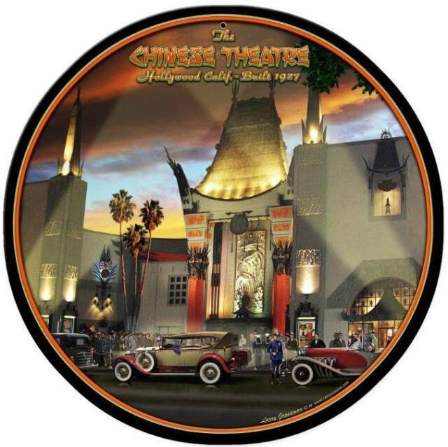 Chinese Theatre California Movies Metal Sign Man Cave Gameroom Wall Decor LG420