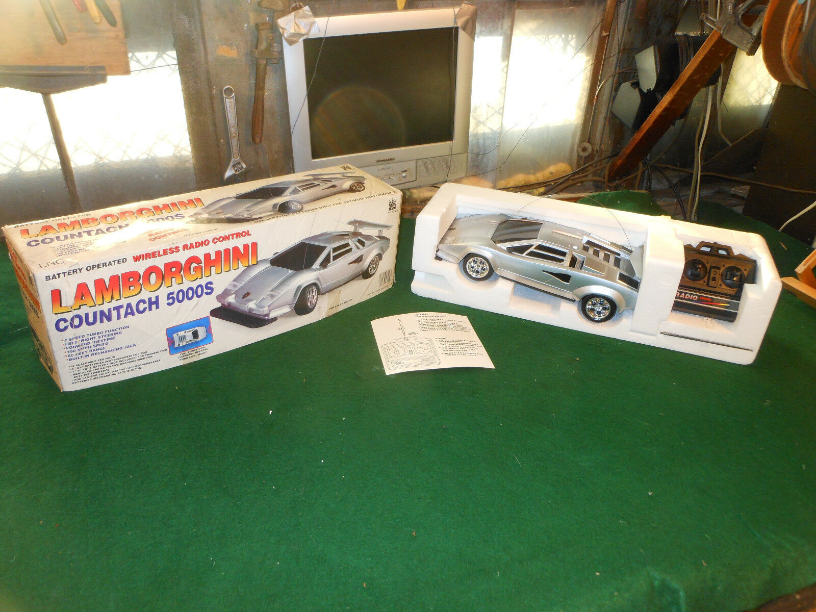 Vintage Toy State Industrial Vintage Lamborghini RC Remote Control Mint in Box