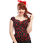 Collectif Dolores cherry Top Vintage Retro Rockabilly Pin Up Office 50s