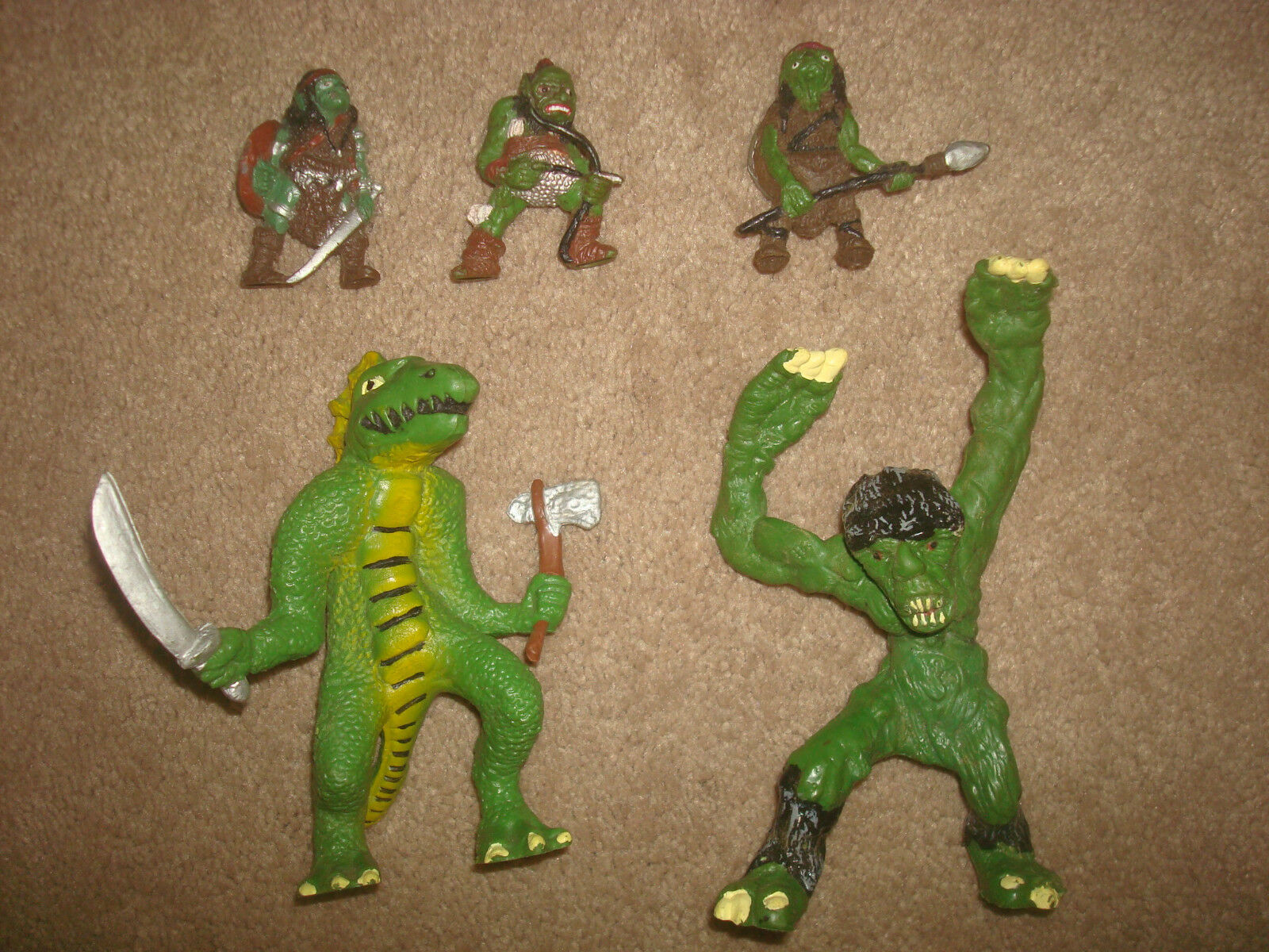 Vintage Dungeons & Dragons Dragons Dragons Toy Figure LOT 1982 Goblin Troglodyte Terrible Troll 305729