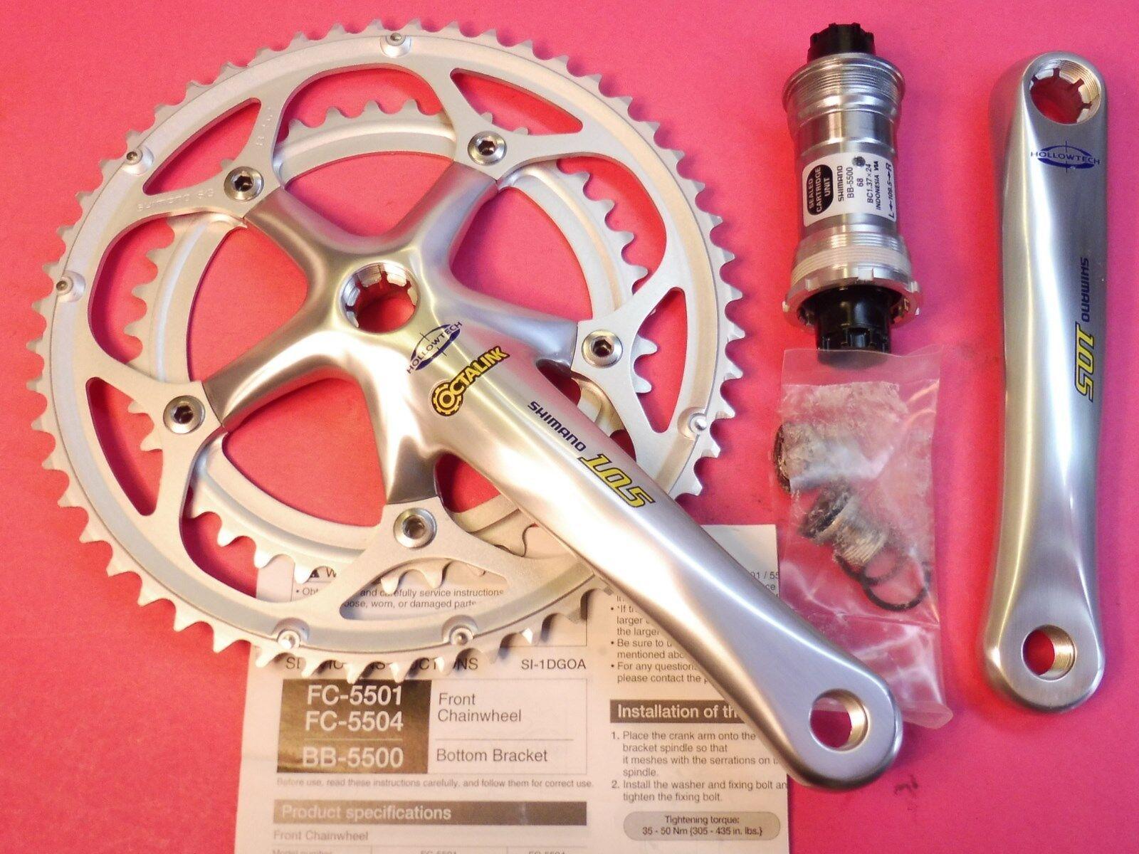 Shimano 55019 Sp. Bicicletta Set Catena 170 39.5255 68109 Bb Set  Nos