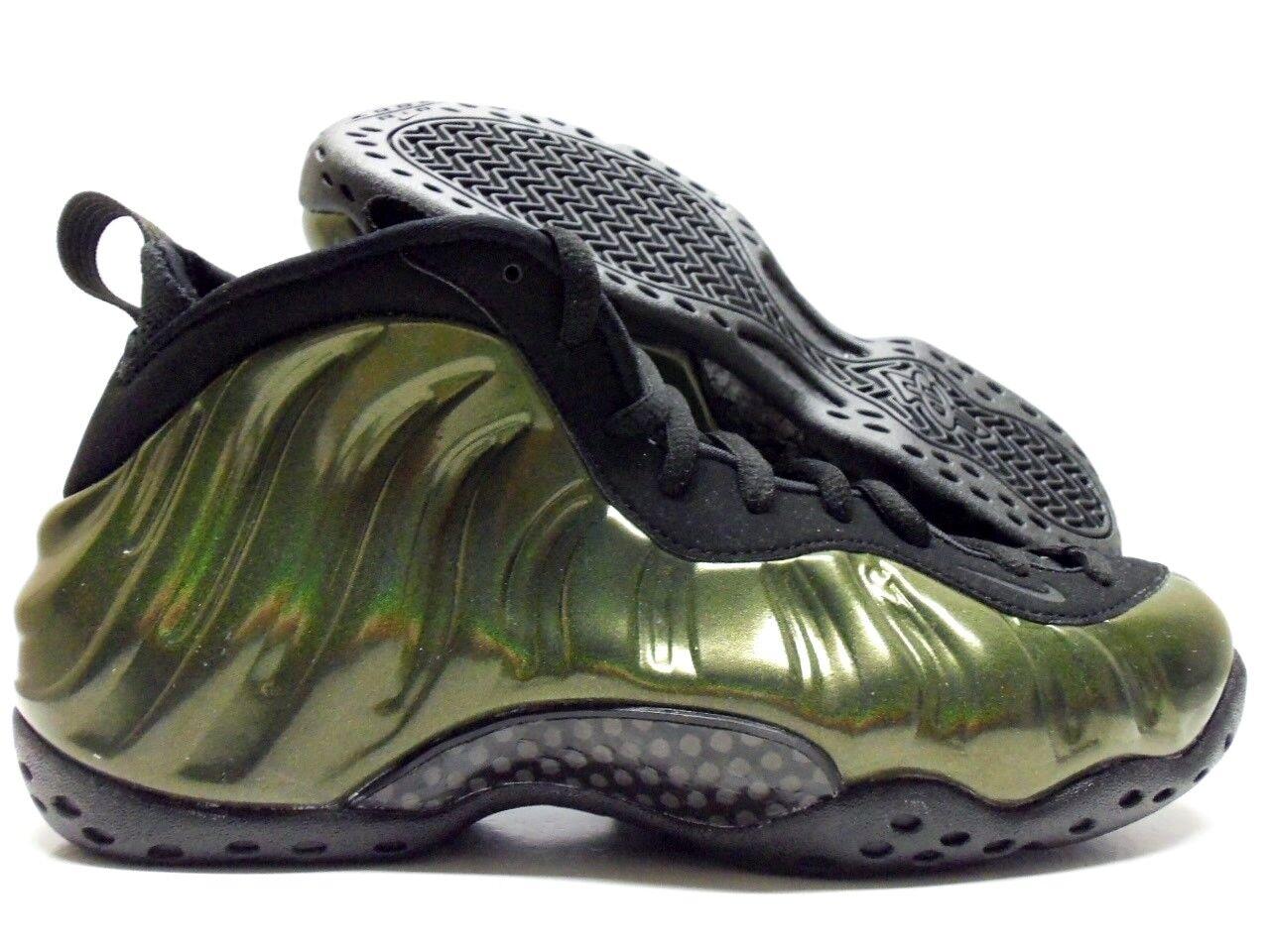 Nike air foamposite una legione verde / nero-nero dimensioni uomini 8 [314996-301]