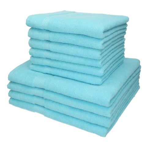 Betz 10er Handtuch Set PALERMO 6 Handtücher 4 Duschtücher türkis