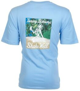 TOMMY-BAHAMA-Mens-T-Shirt-SHAKE-WELL-Hula-Girl-Drink-BLUE-Relax-Camp-XL-3XL-45