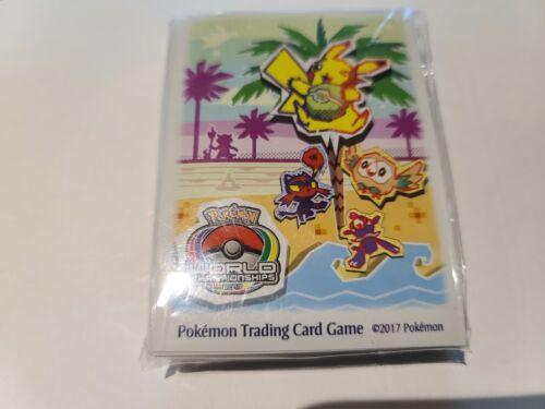 Pokemon 2017 Anaheim World championship Card Sleeves 65 ct. Sealed