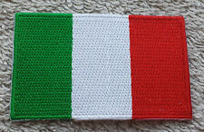 ITALY FLAG PATCH Embroidered Badge Iron or Sew on 4.5cm x 6cm Italian Italia NEW