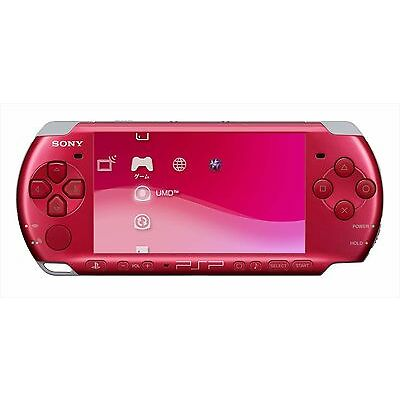 SONY PSP PlayStation Portable Console Radiant Red PSP-3000RR Wireless LAN JP