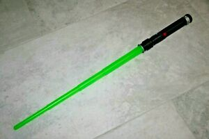 Hasbro-1999-Green-Star-Wars-Qui-Gon-Toy-Light-Saber-W-Sound-Electronic-Tested