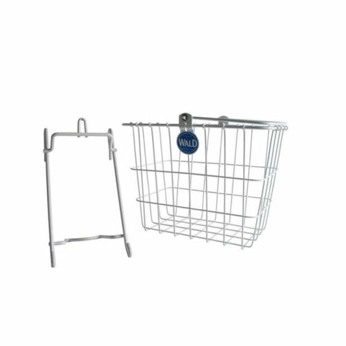 Wald 114WH Lift-Off Compact Front Bike Basket White