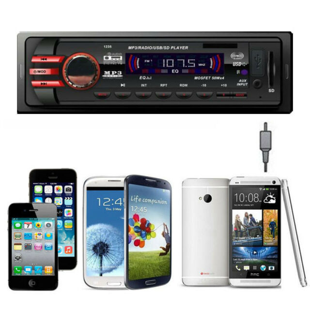 Car Audio Stereo In Dash Units FM With Mp3 Player USB SD Input AUX Receiver 1235