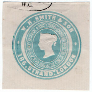 I-B-QV-Postal-Newspaper-Wrapper-WH-Smith-amp-Son-2d-Advertising-Ring