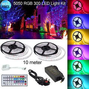 10m rgb 5050 led strip lights tv back light 12v usb colour changing image is loading 10m rgb 5050 led strip lights tv back aloadofball Gallery