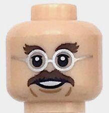 NEW LEGO Light Flesh Minifig Head No 2962 Dark Brown Beard and Stubble Pattern