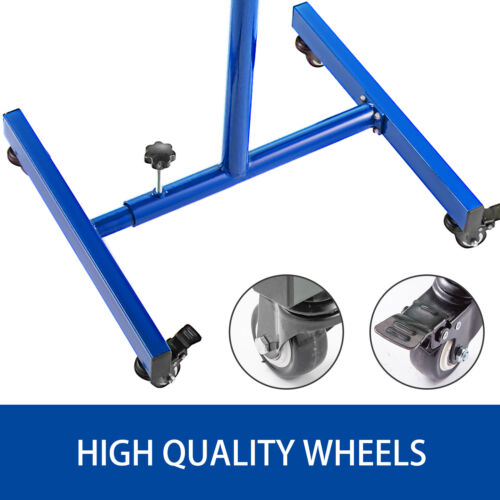 Rolling Tool Table Tear Down Tray 220lbs Adjustable Height with Drawerin Blue