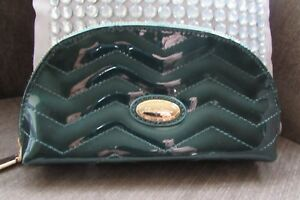 c9d51f3a2 Image is loading Claudia-Canova-Green-Patent-Stitched-Clutch-Bag-with-