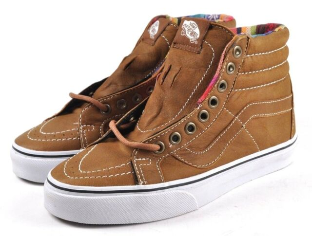 a68a13802e1 VANS Sk8-hi Reissue Leather Brown guate Skateboard Sneaker US Mens 4 ...
