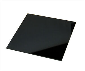 CNC PRECISION CUT ACRYLIC/PLEXIGLASS SHEET BLACK #2025 1/4\
