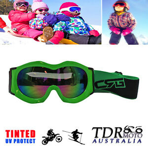NEW Kids Goggles Motocross MX ATV Quad Dirt Bike Skiing Skating Sports - GREEN