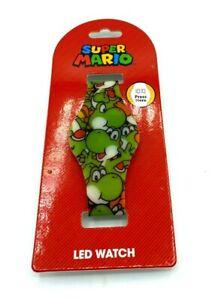 SUPER MARIO Yoshi LED Wrist watch Kids Girls Boys NEW