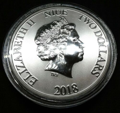 Mickey Mouse 2018 1 oz Silver Disney Niue Lunar Year of Dog Coin Free Capsule