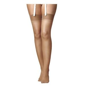 58a3ee1f664 6 Pack National s Sheer Stretch RHT Stockings Size B in Natural ...
