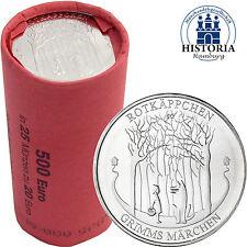 25 x Deutschland 20 Euro Silber 2016 bfr. Grimms Märchen: Rotkäppchen in Rolle