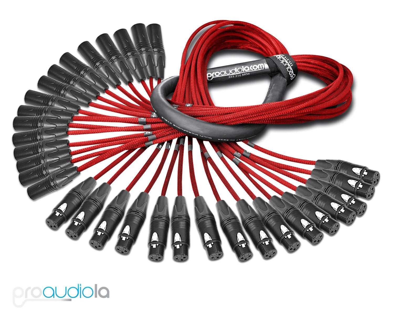 Serpiente de 16 canales Premium Premium Premium Mogami 2934   oro Neutrik XLR-F Xlr-m   Rojo 5 pies 5' 1bf94e