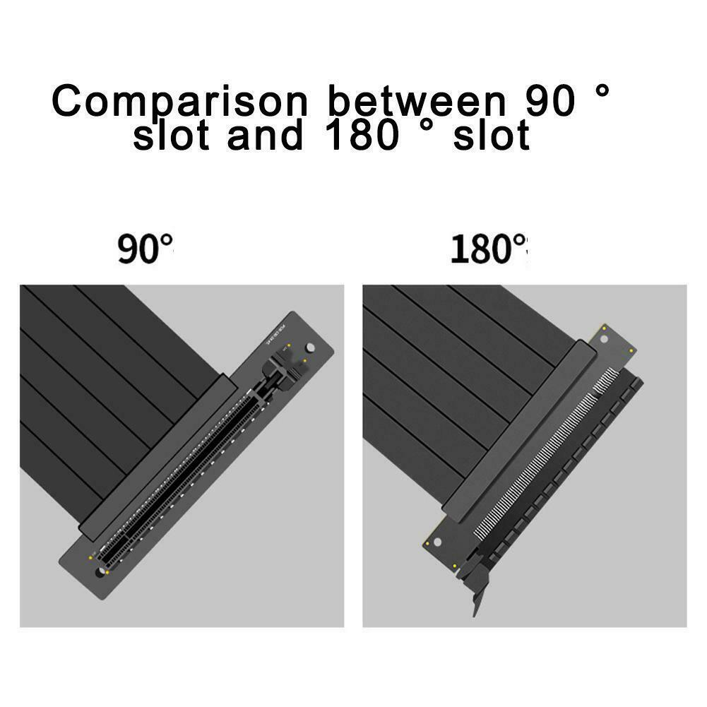 180 Degree Full Speed 3.0 PCIE X16 Riser Graphics Card Extension Line UK HOT
