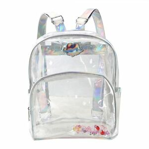 9a334966cb Image is loading Girl-s-Mini-Clear-Transparent-Backpack-Satchel-Tote-
