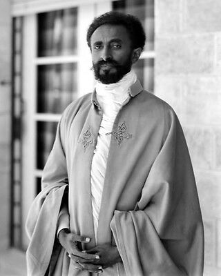 HAILE SELASSIE I OF ETHIOPIA PORTRAIT 8X10 PHOTO 1923