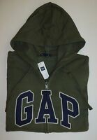 Mens Gap Logo Green Zip Up Hoodie Jacket Sweatshirt Sizes S, M, L, Xl, 2xl -