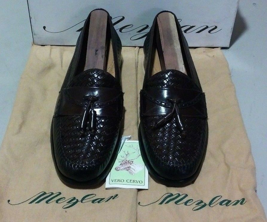 New Mezlan Santa Cruz 7.5 M black/brown buckskin/wicker leather (1053)