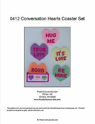 Valentine/'s Day Love Bug Coasters-Plastic Canvas Pattern or Kit