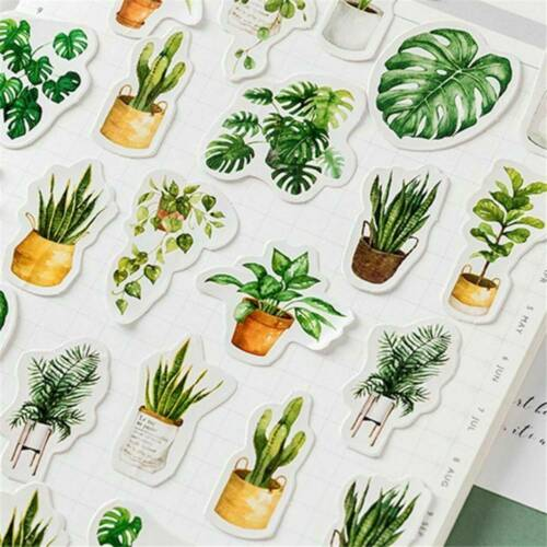45Pcs//Box Potted Plant DIY Stickers Sealing Diary Label Scrapbooking Sticker F6