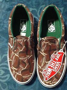 58f8cd060141b9 VANS Classic Slip-Ons Sports Football Green Shoes Kids Size 10.5 new ...