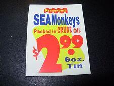 "RON ENGLISH POPAGANDA SeaMonkeys Oil Ad 2.5"" Sticker decal frm poster art print"