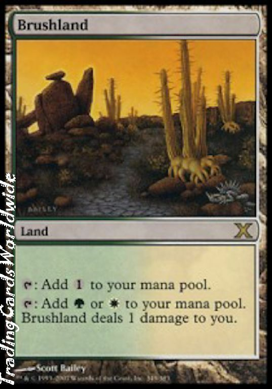 Brushland    NM    Tenth Tenth Tenth 10th Edition    engl.    Magic the Gathering 622cfa