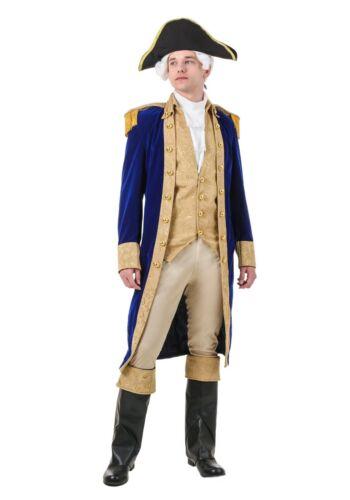 ADULT GEORGE WASHINGTON ARISTOCRAT COSTUME SIZE M XL missing hat