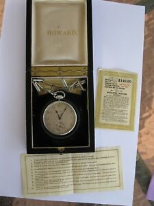 Very-rare-1915-Howard-23-jewel-14K-solid-gold-pocket-watch-with-original-papers