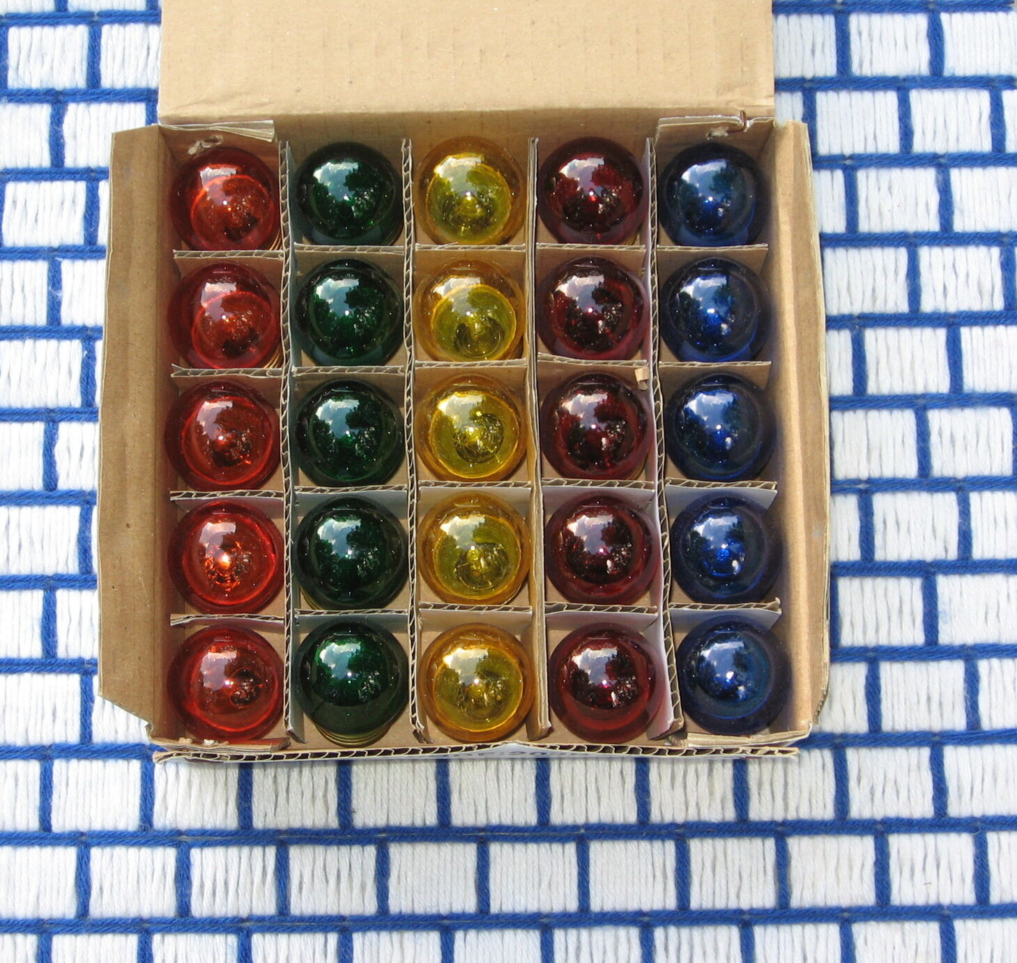 BOX of 25 mixed assorted colors S11 sign 7.5w night LIGHT BULB 7.5S11 medium MIX