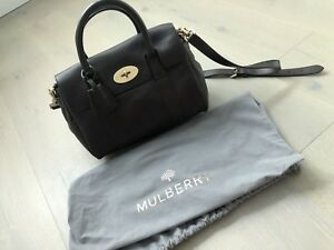 1c9f4e506c Image is loading Mulberry-Small-Bayswater-Satchel-Chocolate-Natural-Leather -With-