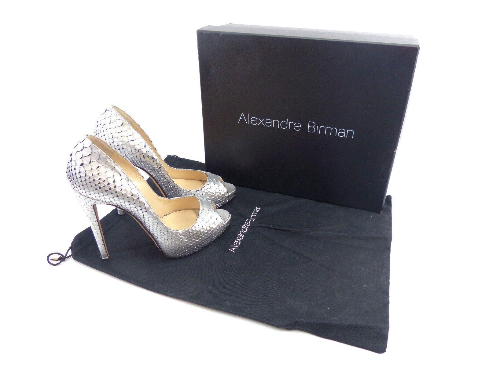 Alexandre Birman 'Hilary' argento Metallic Python      EU 38   US 8 | Aspetto Attraente  f444af
