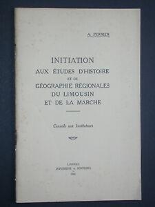 Monographies de communes en Limousin et Marche - Bibliographie - Perrier 1943