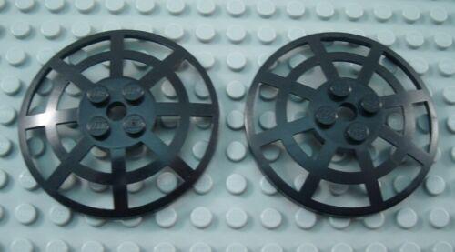 LEGO Lot of 2 Black 6x6 Webbed Radar Dishes