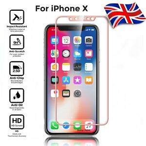 reputable site 5f186 ad422 Details about For Apple iPhone X Rose Gold 3D Curved Cover Tempered Glass  Screen Protector UK